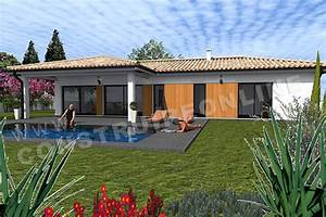 Beautiful maison moderne en acier de plain pied photos for Plans de maison en l 6 maison mobile en bois arkko