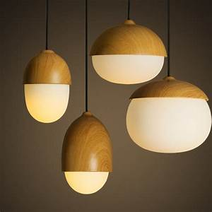 Adorable light white glass hanging nut pendant