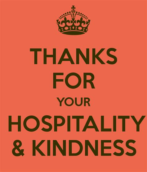 thank you for your hospitality thanks for your hospitality kindness poster rafiq keep calm o matic
