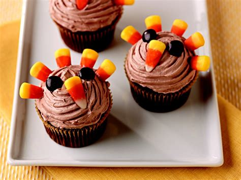 Who says candle holders can't double for cupcake holders? Festive Thanksgiving Desserts Cupcakes - Cake Ideas by ...