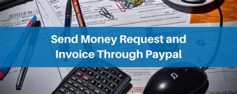 send money request  invoice  paypal