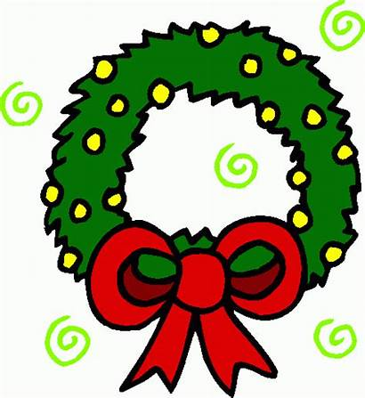 Wreath Christmas Clipart Clip Wreaths Cliparts Cartoon