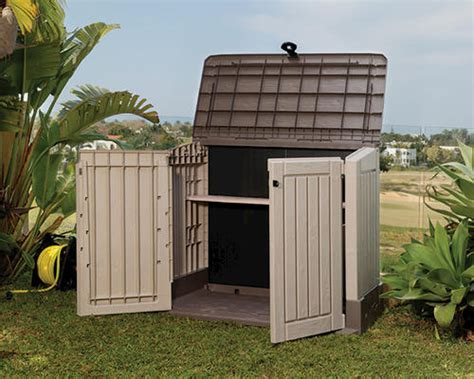 keter storage shed menards keter 174 woodland store it out midi horizontal storage unit