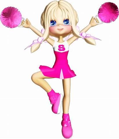 Cheerleader Cartoon Clipart Cheerleaders Blonde Football Transparent