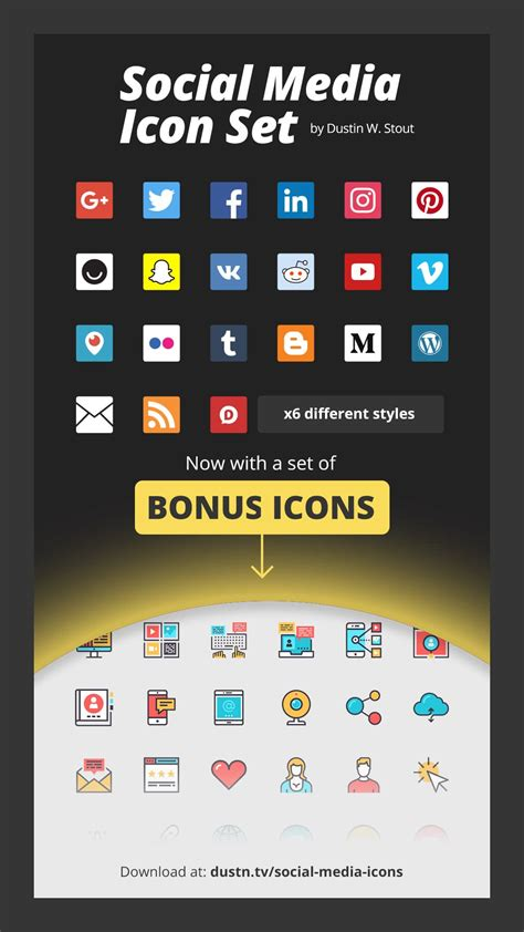 new images of social media icons for business cards
