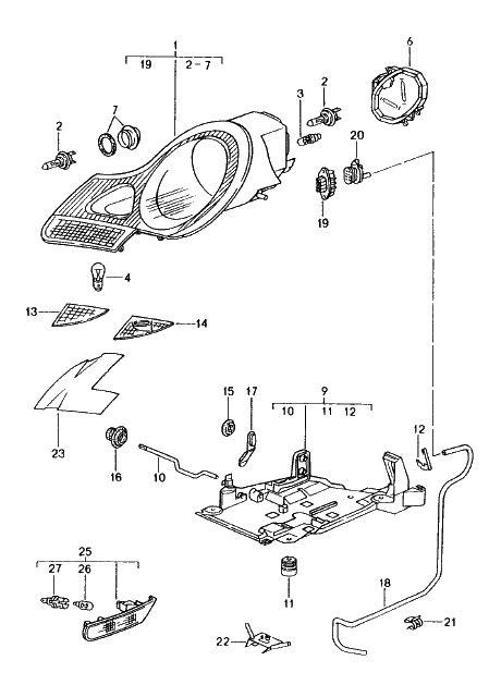 Headlamp Connector Housing Wiring Harness Porsche