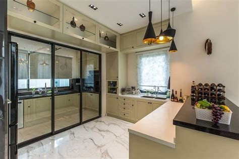 wet  dry kitchen design ideas  malaysian homes