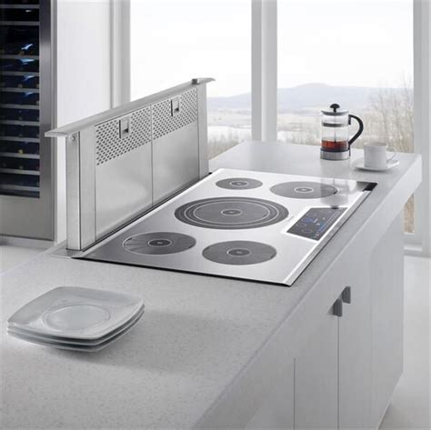 island cooktop vent thermador cooktop with pop up vent something like we