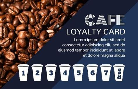 personalize   coffee loyalty card   wide range
