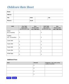 Rate Sheet Template Rate Sheet Template 10 Free Sle Exle Format Free Premium Templates