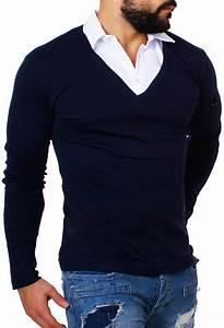 Hemd Pullover Kombination : hemd pullover kombination rerock herren double look longsleeve hemd shirt pullover slimfit 2in1 ~ Frokenaadalensverden.com Haus und Dekorationen