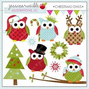 Cute Christmas Owl Clipart