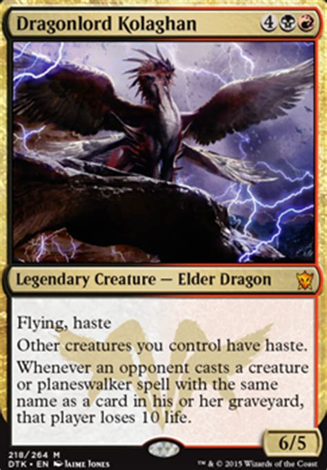 Standard Deck Mtg Dragons Of Tarkir by Kolaghan S Wrath Suggestions Welcome Standard Mtg Deck