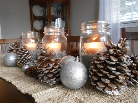 beautiful pine cone centerpieces     christmas