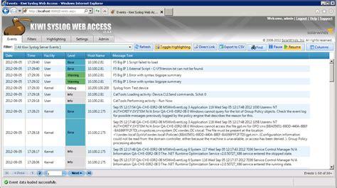 syslog servers  windowslinux software