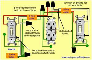 Wiring 3 Way Switches To Control One Receptacle