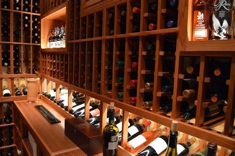 Beautiful Redwood Wine Cellar In Los Angeles, California