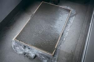 Gartentisch beton selber bauen for Tischplatte aus beton