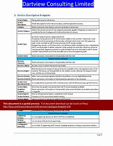 itil service catalogue template word slideshow view With it service catalogue template