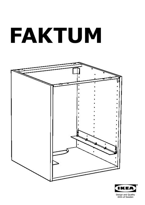 montage tiroir cuisine ikea faktum base cabinet for oven ramsjö black brown ikea