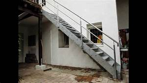 Stahltreppe Mit Holzstufen : stahltreppe verzinkt youtube ~ Michelbontemps.com Haus und Dekorationen