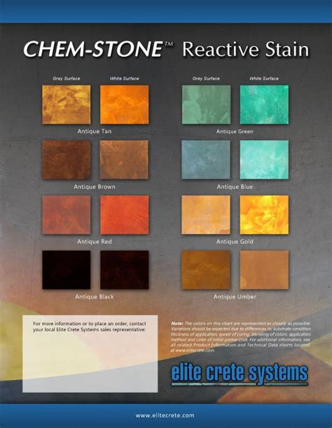 flooring color finish charts brochures elite crete