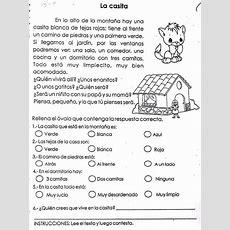 Fichas Infantiles Ficha Infantil De Comprensión Lectora  Lectura Y Escritura Comprensión