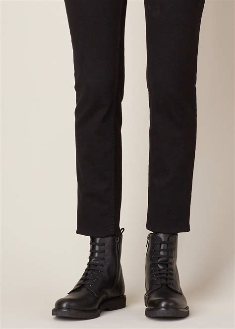 common projects black leather combat boot  black lyst