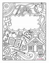 Binder Coloring Printable Covers Pages Templates Fun Colouring Sheets Student Teacher Math Take Books Notebooks sketch template