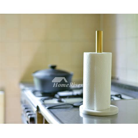 kitchen brass marble paper towel holder gold tissue