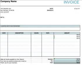 Service Template Excel Cleaning Services Invoice Sle Invoice Template Ideas
