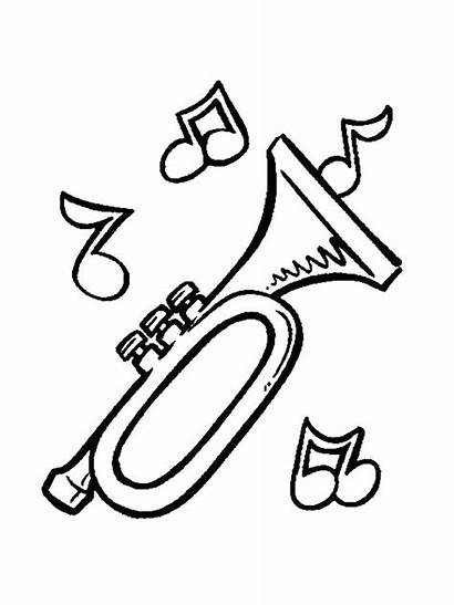Instruments Musical Coloring Pages Fun