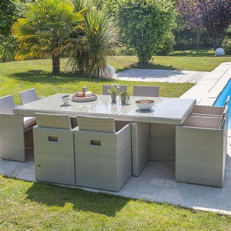 table et chaises de jardin leroy merlin salon de jardin encastrable résine tressée gris 1 table