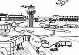 Airport Coloring Drawing Airplane Drawings Kid Vliegveld Kleurplaat Sheets Sketch Template Coloringsky Cessna Adult Sample Kleurplaten Take sketch template