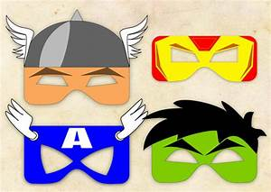 superhero inspired masks 4 instant digital by klikidesigns With avengers mask template