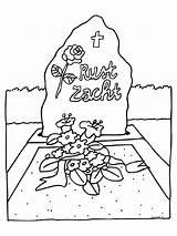 Funeral Pages Coloring Van Kleurplaten Begrafenis Dood Werkbladen Afkomstig Nl sketch template