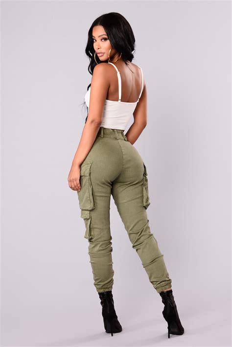 Kalley Cargo Pants - Olive