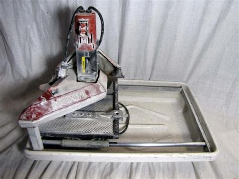 mk tile saw 470 mk 470 tile saw with tray and ebay