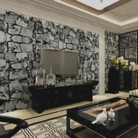 reizvoll wandgestaltung wohnzimmer steinoptik ideen