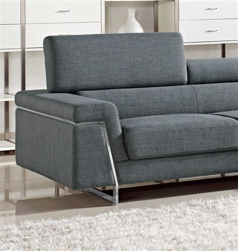 fabric sectional sofas darby modern grey fabric sectional sofa set