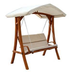 leisure season wswc102 wooden swing seater with canopy lowe s canada
