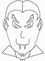 Vampire Coloring Pages Printable Vampires Halloween Template Scary Getcoloringpages Anime Bestcoloringpagesforkids sketch template