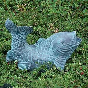 poisson cracheur sculpture en bronze sujet fontaine With amenagement jardin avec bassin 15 fontaine solaire petits bassins sj150 sujet fontaine