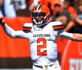 johnny manziel leads cleveland browns  tennessee titans