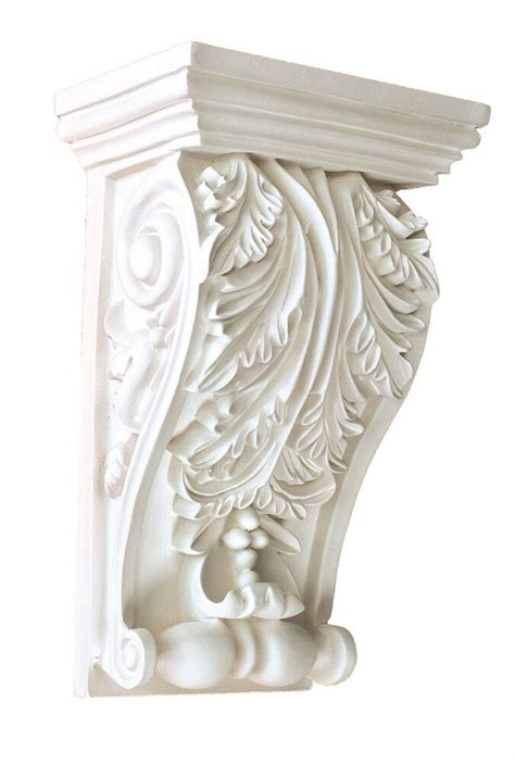 Wall Corbels by Corbel Decorative Leaf 8 X 5 Inch Primed White Bracket For