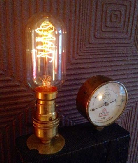 edison steampunk rustic antique table lamp id lights