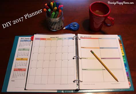 2017 calendar planner diy 2017 calendar planner