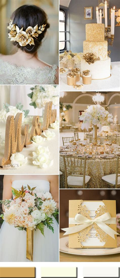 2017 the Best Gold Wedding Colors Combos Trends Gold