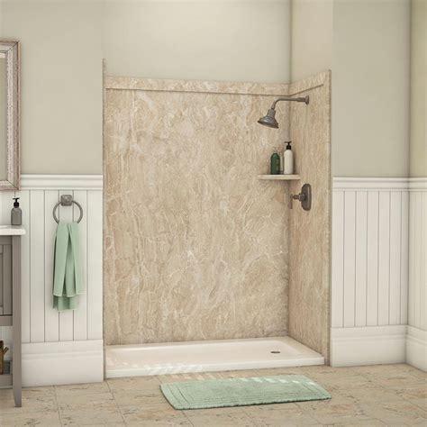 flexstone royale          piece easy  adhesive alcove bathtubshower wall