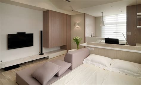 inspiration couleur chambre small living streamlined studio apartment